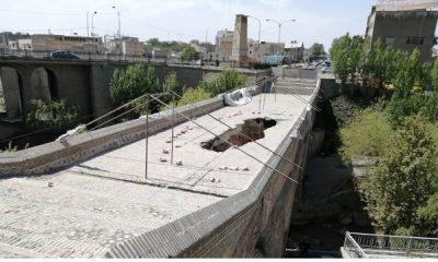 آغاز عملیات پاکسازی و مرمت پل تاریخی کرج