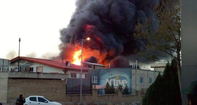 آتشسوزی گسترده در کارخانه اکتیو
