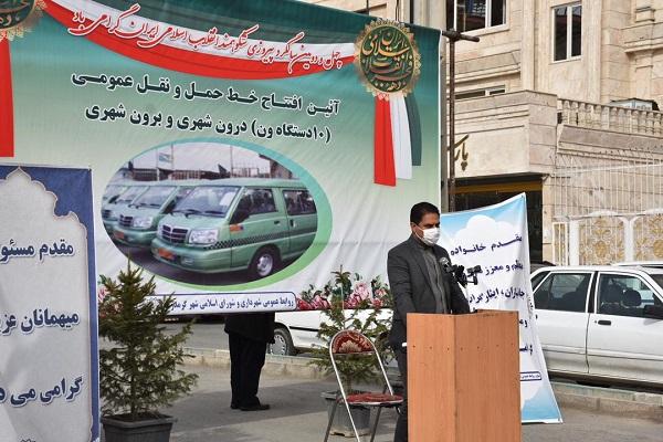 تزریق ۱۰ دستگاه خودرو ون به ناوگان حمل و نقل عمومی شهر گرمدره