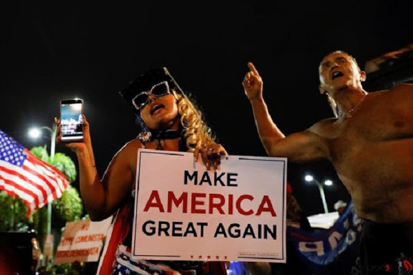 طرفداران ترامپ به حامیان بایدن حملهور شدند